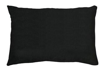 14X20 Bravado Caviar Black Throw Pillow