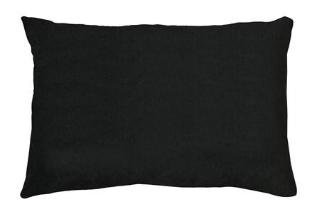 14X20 Bravado Caviar Black Throw Pillow - Main