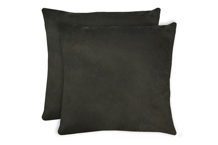24X24 Set Of 2 Geo Raven Brown Gray Throw Pillow - Main