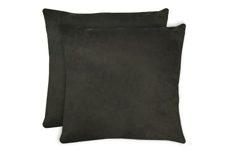 24X24 Set Of 2 Geo Raven Brown Gray Throw Pillow - Main