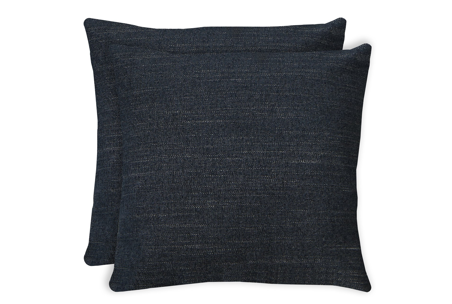 24x24 Set Of 2 Curious Eclipse Navy Blue Throw Pillow Living Spaces