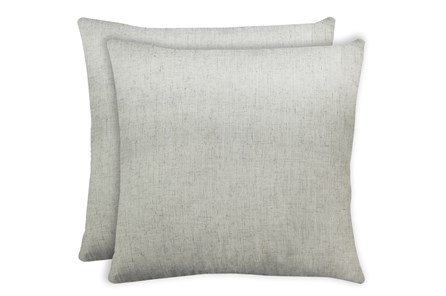24X24 Set Of 2 Caitlin Flax White Linen Throw Pillow - Main
