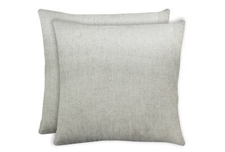 24X24 Set Of 2 Caitlin Flax White Linen Throw Pillow - Main