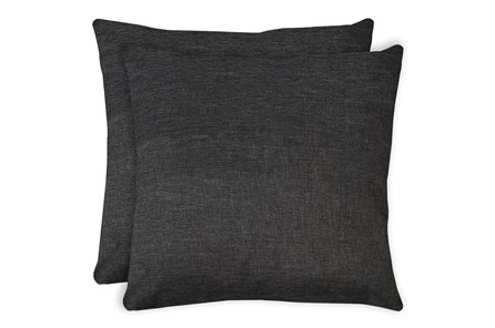 24X24 Set Of 2 Jitterbug Gray Linen Throw Pillow - Main