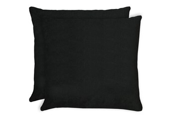 24X24 Set Of 2 Bravado Caviar Black Throw Pillow