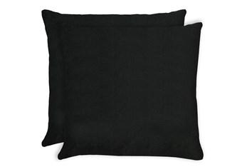 20X20 Set Of 2 Bravado Caviar Black Throw Pillow