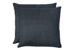 24X24 Set Of 2 Zander Indigo Blue Throw Pillow
