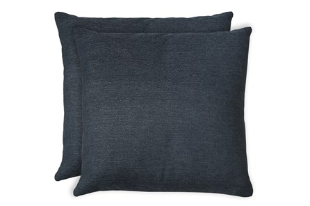 24X24 Set Of 2 Zander Indigo Blue Throw Pillow - Main
