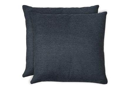 24X24 Set Of 2 Zander Indigo Blue Throw Pillow - Main