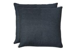 20X20 Set Of 2 Zander Indigo Blue Throw Pillow