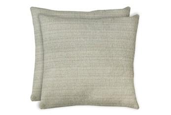 24X24 Set Of 2 Macintosh Cotton White Multi Throw Pillow