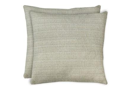 24X24 Set Of 2 Macintosh Cotton White Multi Throw Pillow - Main