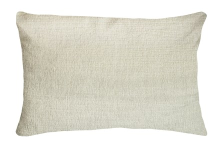 14X20 Preference Cream White Throw Pillow - Main