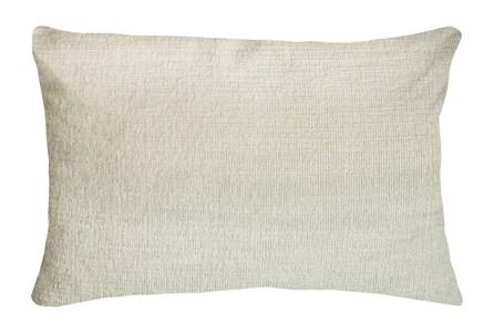 14X20 Preference Cream White Throw Pillow - Main