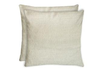 24X24 Set Of 2 Preference Cream White Throw Pillow