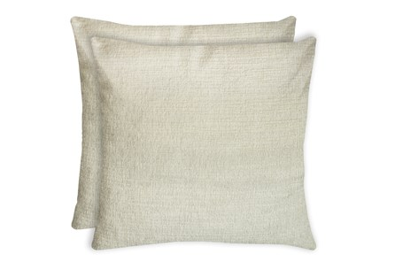 24X24 Set Of 2 Preference Cream White Throw Pillow - Main