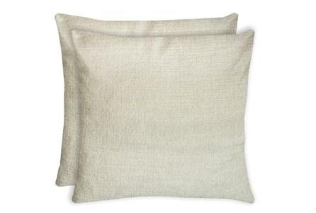 24X24 Set Of 2 Preference Cream White Throw Pillow - Main