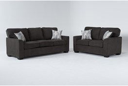 Shea Graphite 2 Piece Living Room Set