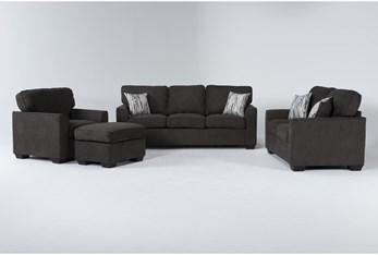 Shea Graphite 4 Piece Living Room Set