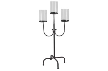 Iron And Glass Candelabra