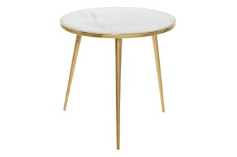 Marble Tripod Accent Table