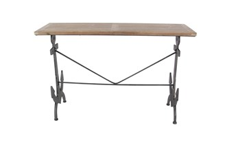 Wood And Iron Anchor Console Table