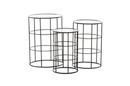 Round Metal And Glass Side Table