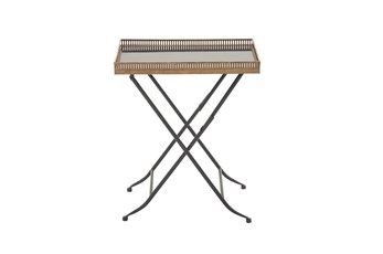 Gold Tray Accent Table