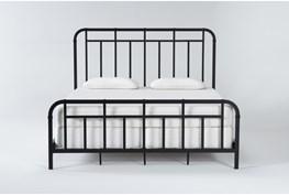 Wade Eastern King Metal Panel Bed