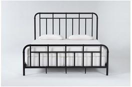 Wade California King Metal Panel Bed