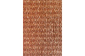 98X120 Outdoor Rug-Sunset Distressed Damask