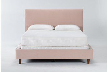 Dean Blush Queen Upholstered Panel Bed