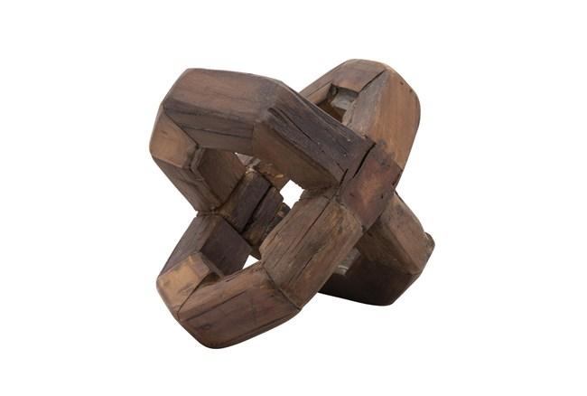 12 Inch Wooden Cross Knot Orb - 360