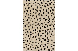 8'x10' Rug-Spotty Cream/Black