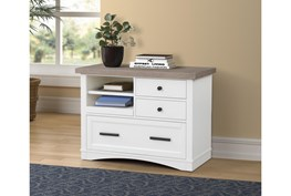 Americana Cotton Modern Functional File With Power Center