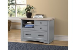 Americana Dove Modern Functional File With Power Center