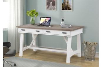 Americana Cotton Modern 60 Inch Writing Desk