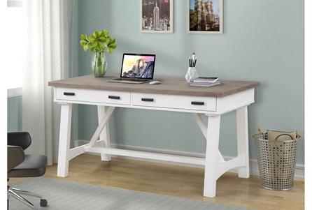 Americana Cotton Modern 60 Inch Writing Desk - Main