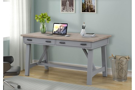 Americana Dove Modern 60 Inch Writing Desk - Main