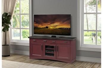 Americana Cranberry Modern 63 Inch Tv Console