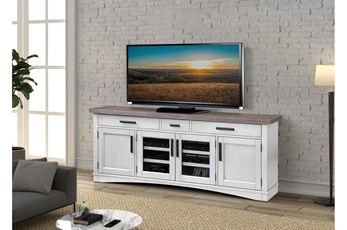 Americana Cotton Modern 76 Inch Tv Console