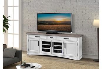 Americana Cotton Modern 76 Inch Tv Console