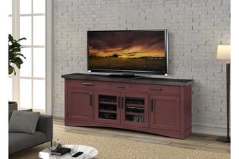 Americana Cranberry Modern 76 Inch Tv Console