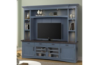 "Americana Denim 95"" 4 Piece Entertainment Center"