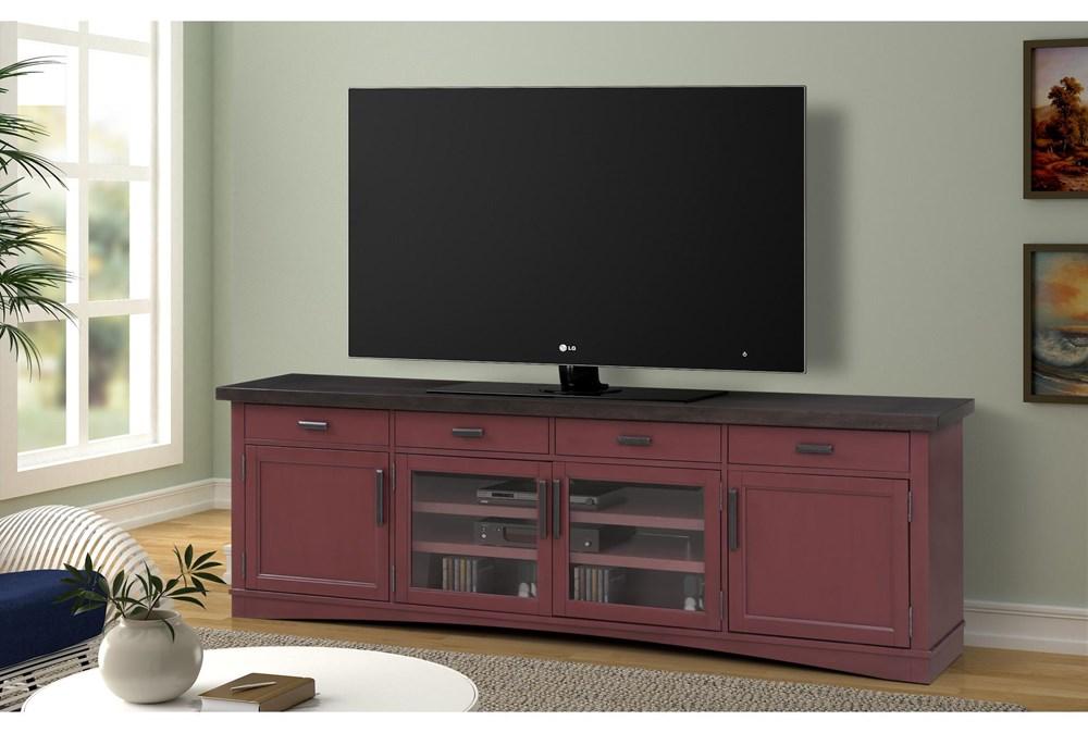 Americana Cranberry Modern 92 Inch Tv Console