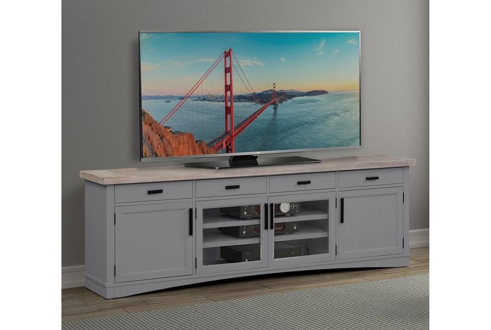 Americana Dove Modern 92 Inch Tv Console