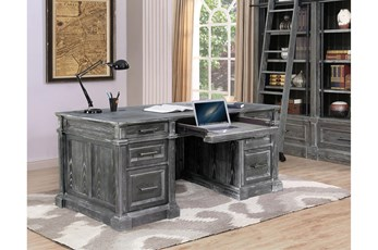 "Gramercy Park Double Pedestal 70"" Executive Desk"