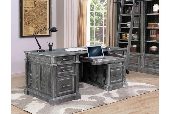 "Gramercy Park Double Pedestal 70"" Executive Desk - 360"