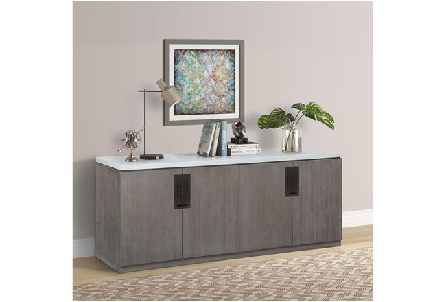 Pure Modern Credenza With Quartz Top - 360