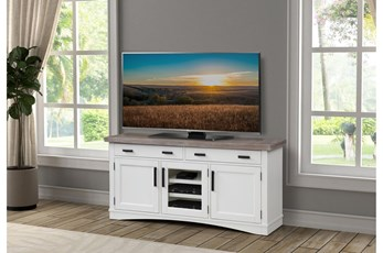 Americana Cotton Modern 63 Inch Tv Console